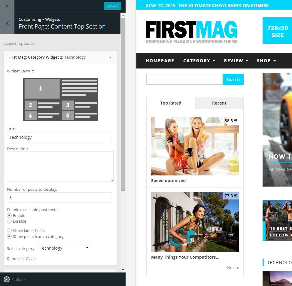 frontpage-setup