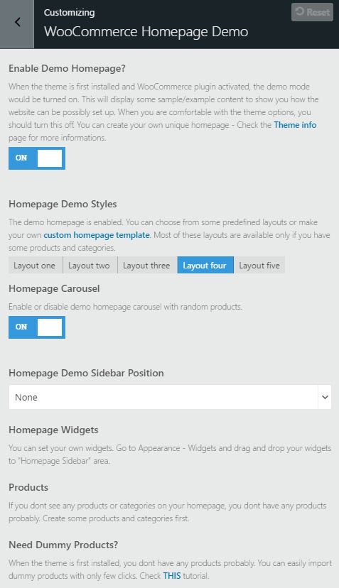 pro-homepage-demo-customizer
