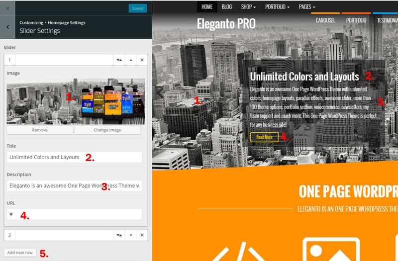 Homepage Setup – Eleganto | Themes4WP Documentation