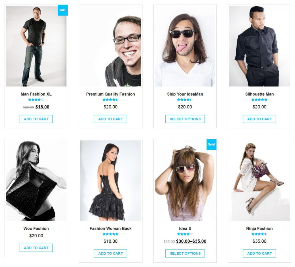 giga store woocommerce theme - products section- demo
