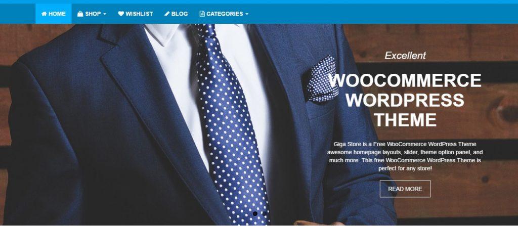 giga store woocommerce theme - slider setup - demo
